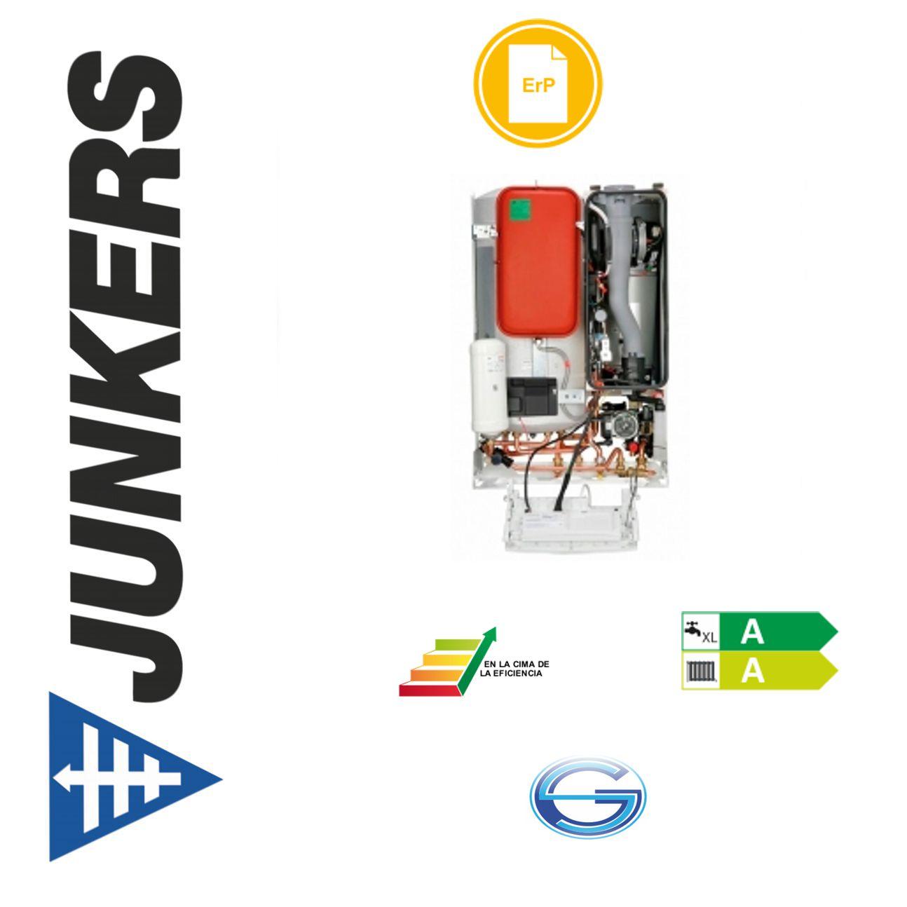 Caldera de gas condensación Junkers CerapurAcu Smart ZWSB-4E acumulación 48 litros