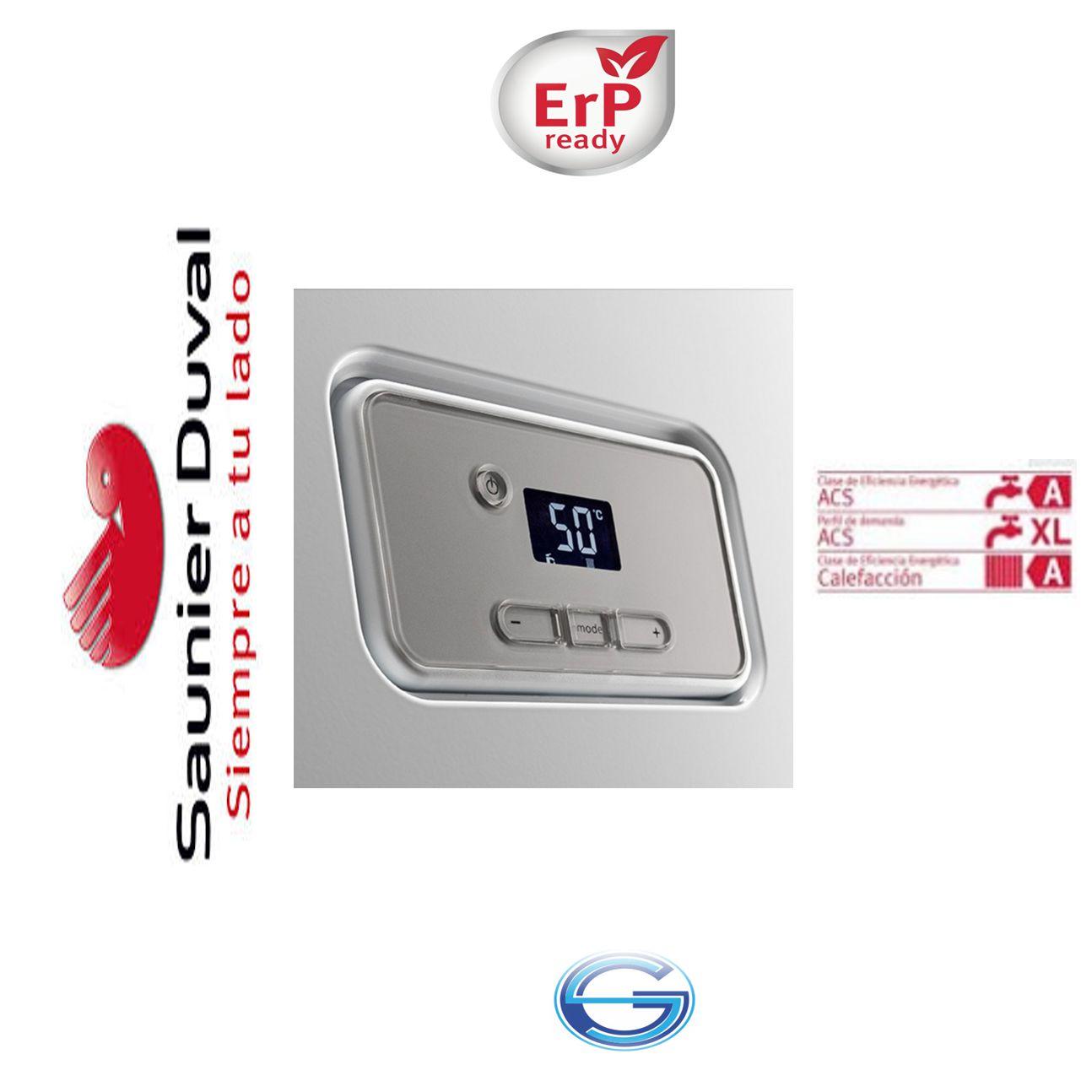 Caldera Saunier Duval Thelia Condens F 25 condensación ErP  panel mandos