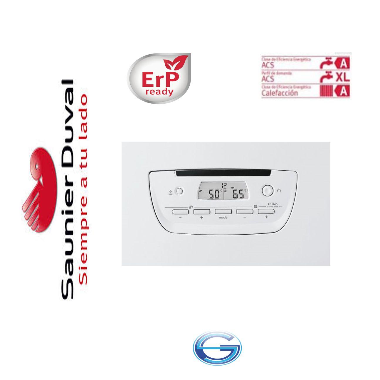 Caldera Saunier Duval Thema Condens F A25 condensación ErP  panel mandos