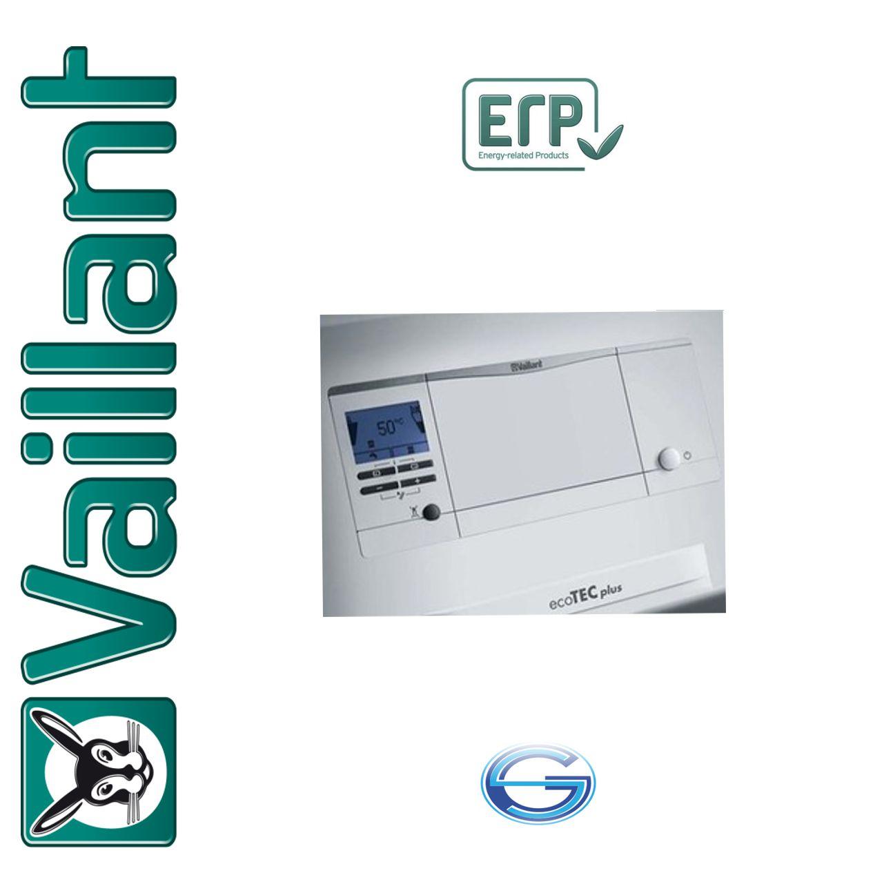 Caldera de gas condensación Vaillant ecoTEC plus VMW ErP panel de mandos
